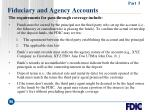 fiduciary and agency accounts96