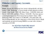 fiduciary and agency accounts99