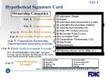 hypothetical signature card22