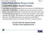 issues when a bank merges or fails105