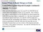 issues when a bank merges or fails106