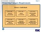 ownership category requirements