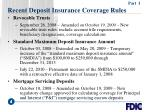 recent deposit insurance coverage rules