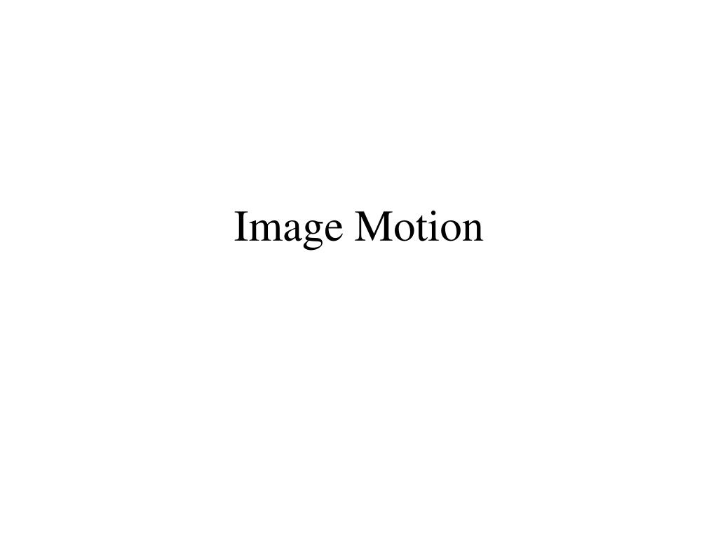 image motion l.