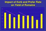 impact of kerb and prefar rate on yield of romaine