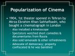 popularization of cinema