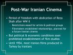 post war iranian cinema