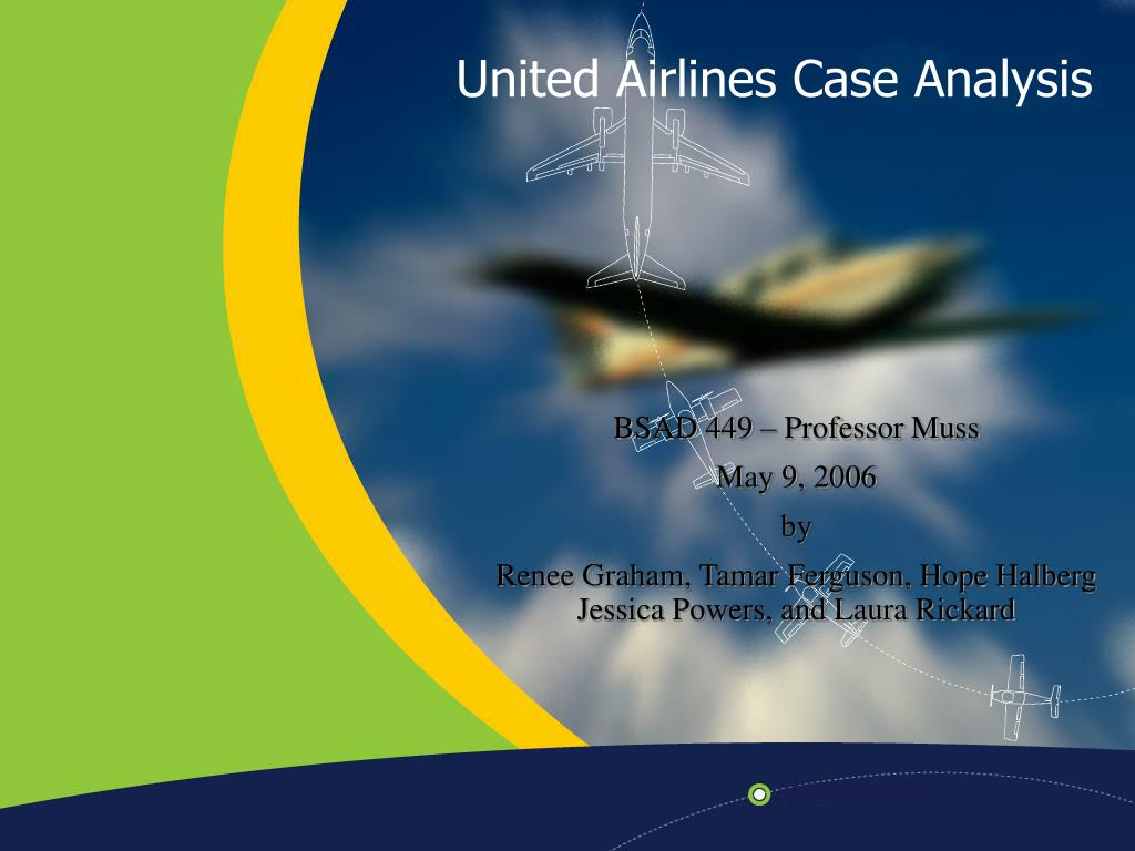 united airlines case analysis l.