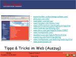tipps tricks im web auszug
