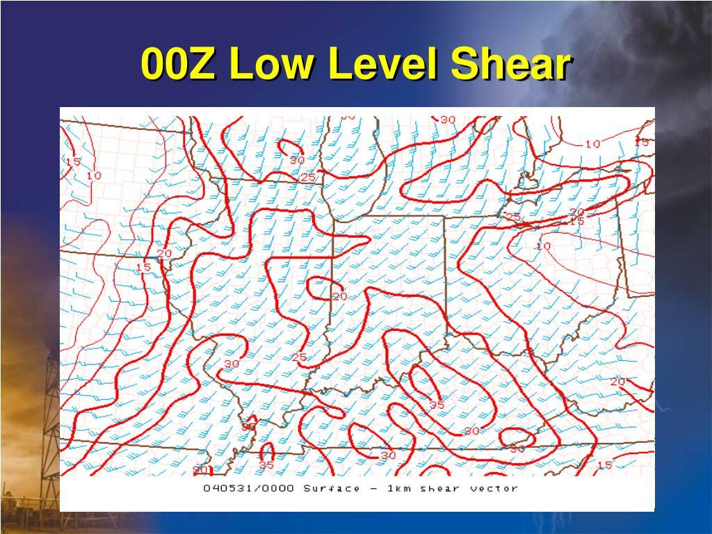 00Z Low Level Shear