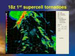 18z 1 st supercell tornadoes