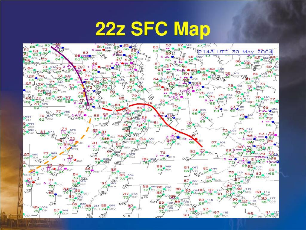 22z SFC Map