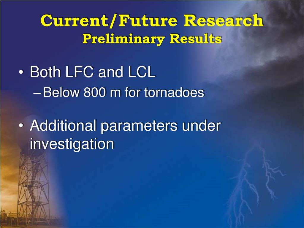 Current/Future Research