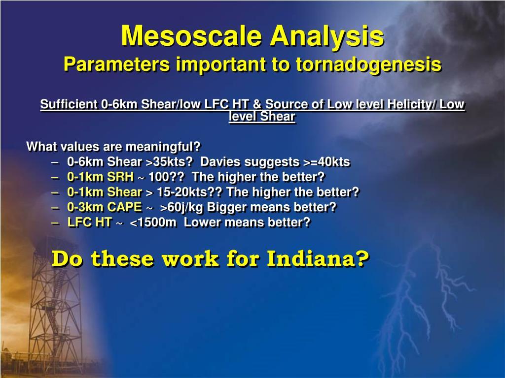Mesoscale Analysis