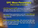 spc meso parameters what to make of the data