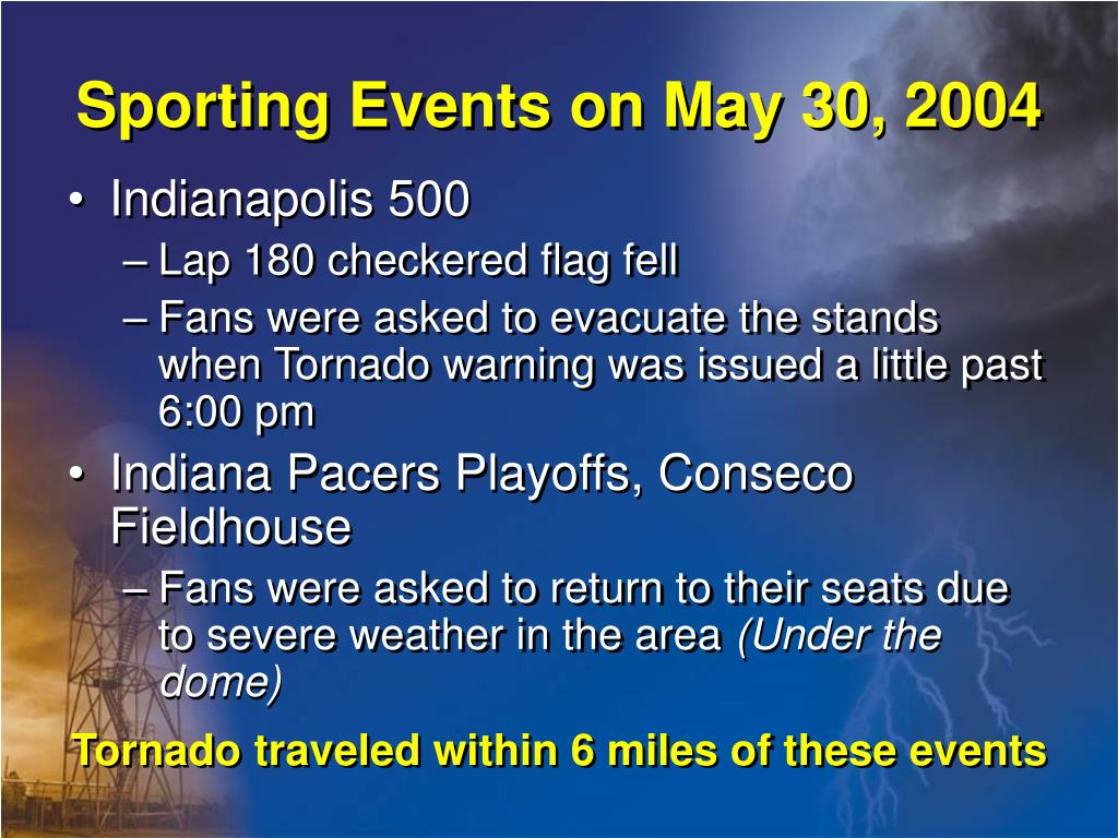 Sporting Events on May 30, 2004