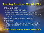 sporting events on may 30 2004