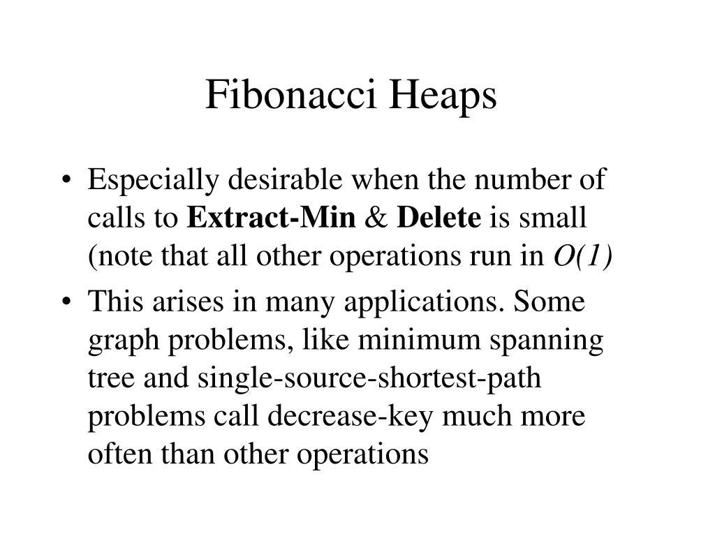 fibonacci heaps l.