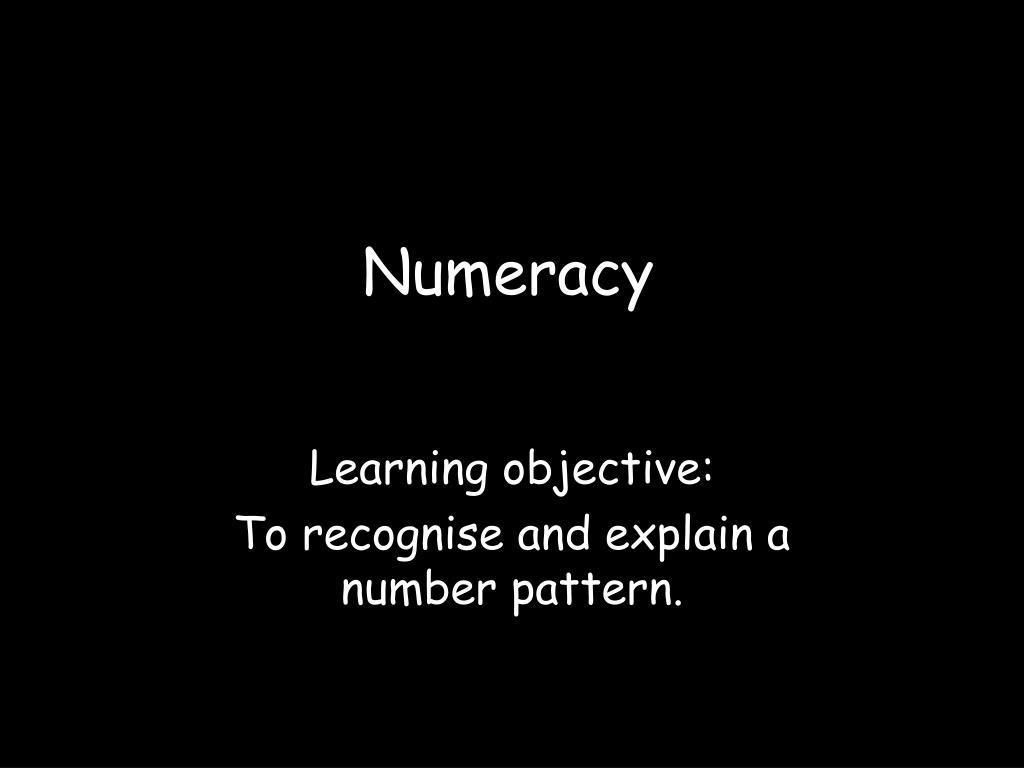 numeracy l.