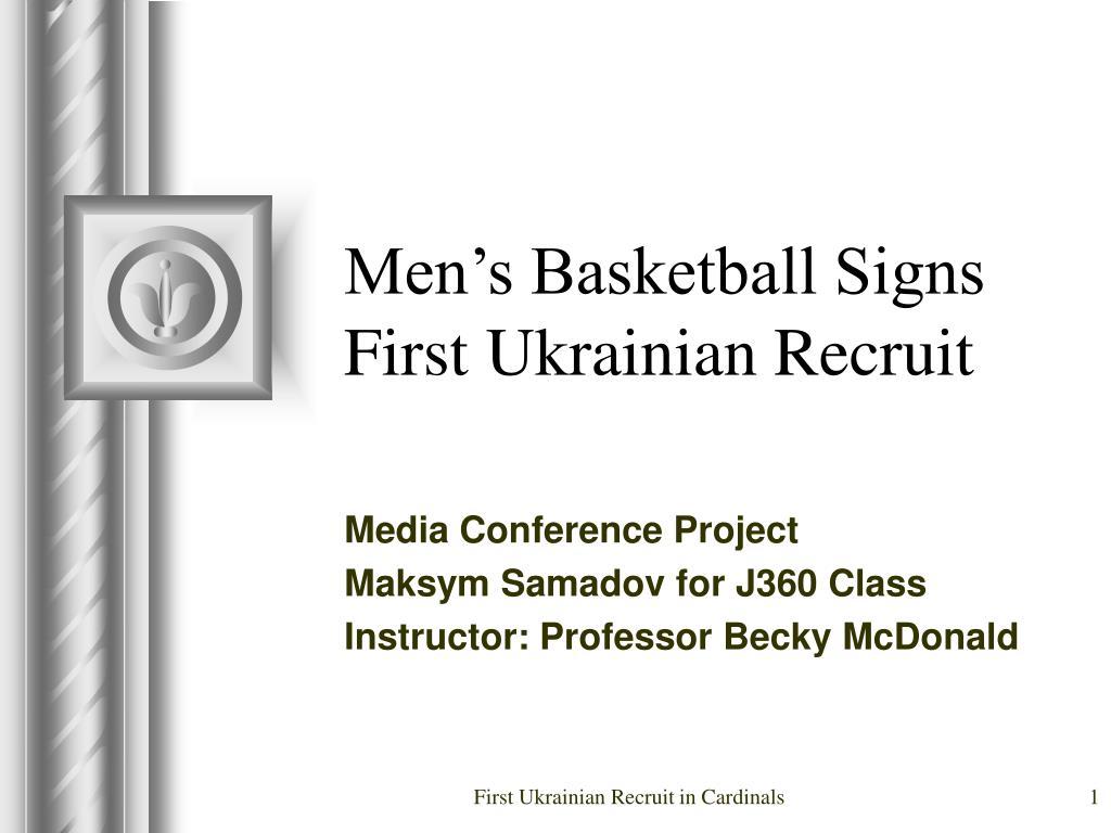 men s basketball signs first ukrainian recruit l.