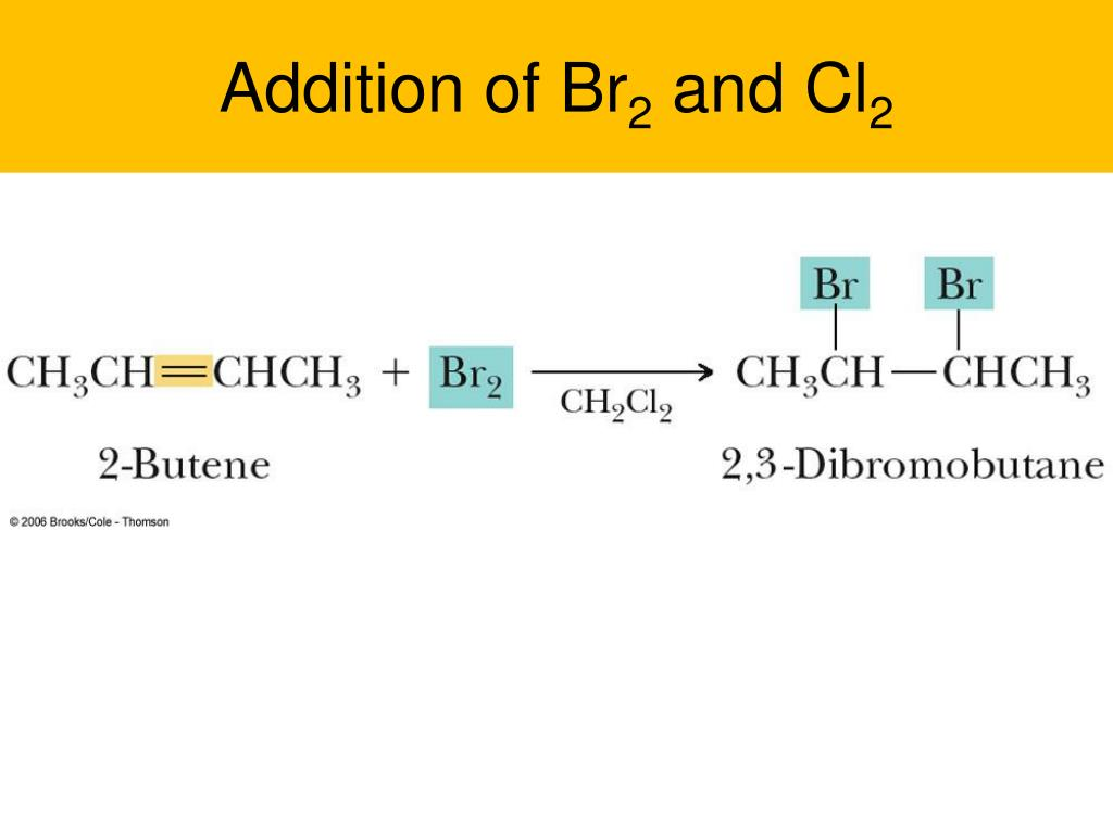 addition of br 2 and cl 2 l.
