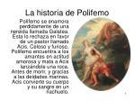 la historia de polifemo