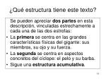 qu estructura tiene este texto