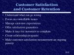 customer satisfaction and customer retention