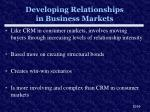 developing relationships in business markets