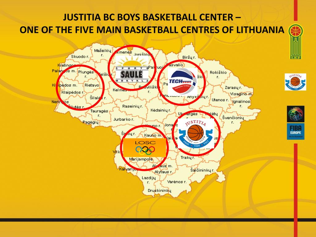 justitia bc boys basketball cent er one of the five main basketball centres of lithuania l.