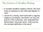 the science of headline writing26