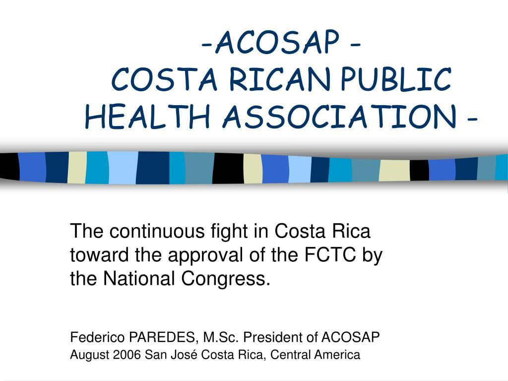 acosap costa rican public health association l.