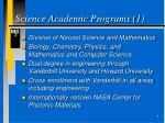 science academic programs 1