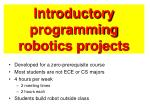 introductory programming robotics projects