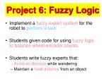 project 6 fuzzy logic