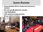 sumo remote