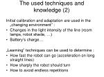 the used techniques and knowledge 2