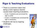 rigor teaching evaluations