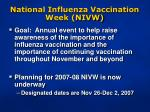 national influenza vaccination week nivw