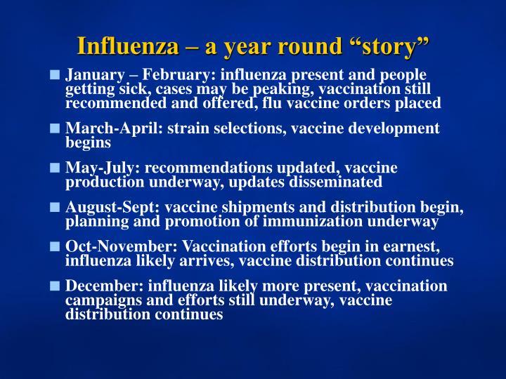 Influenza a year round story