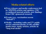media related efforts