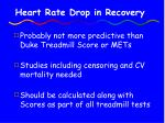heart rate drop in recovery