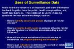 uses of surveillance data