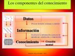 los componentes del conocimiento