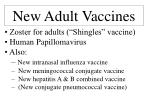 new adult vaccines