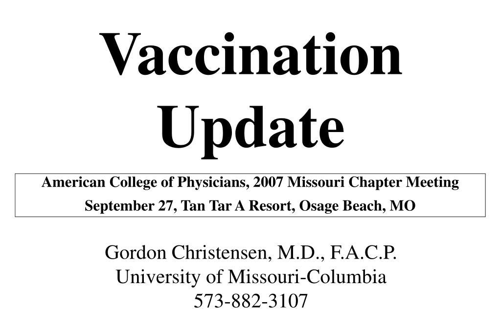 vaccination update l.