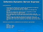 informix dynamic server express