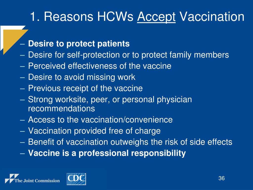 1. Reasons HCWs