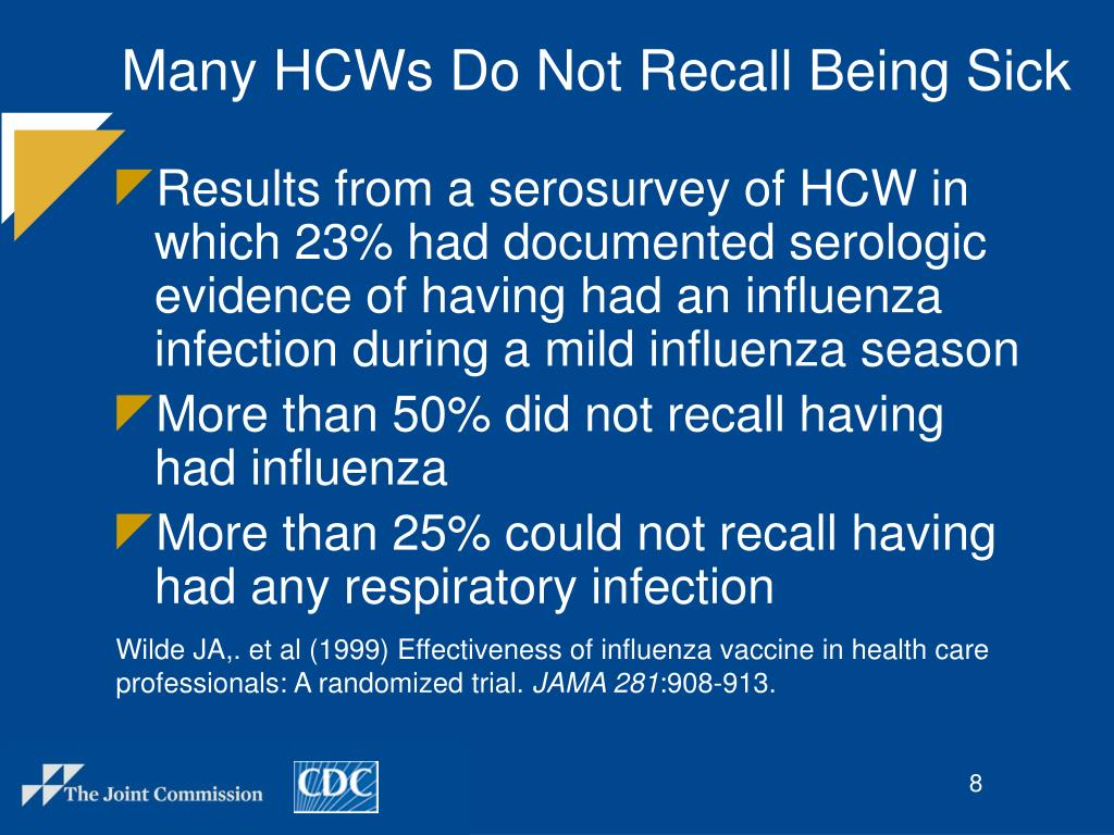 Many HCWs Do Not Recall Being Sick