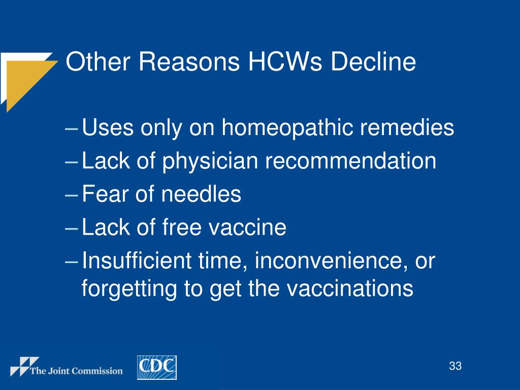 Other Reasons HCWs Decline